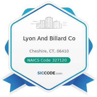 Lyon And Billard Co - NAICS Code 327120 - Clay Building Material and Refractories Manufacturing