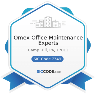 Omex Office Maintenance Experts - SIC Code 7349 - Building Cleaning and Maintenance Services,...