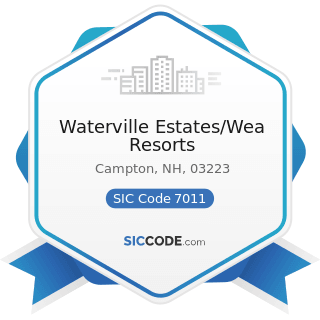 Waterville Estates/Wea Resorts - SIC Code 7011 - Hotels and Motels