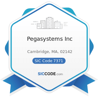 Pegasystems Inc - SIC Code 7371 - Computer Programming Services