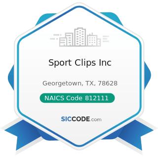 Sport Clips Inc - NAICS Code 812111 - Barber Shops