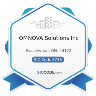 OMNOVA Solutions Inc - SIC Code 8748 - Business Consulting Services, Not Elsewhere Classified