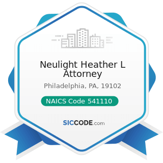 Neulight Heather L Attorney - NAICS Code 541110 - Offices of Lawyers