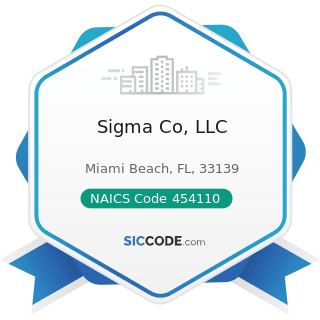 Sigma Co, LLC - NAICS Code 454110 - Electronic Shopping and Mail-Order Houses