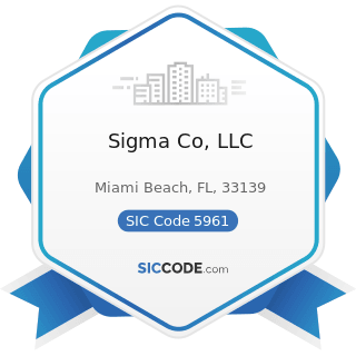 Sigma Co, LLC - SIC Code 5961 - Catalog and Mail-Order Houses
