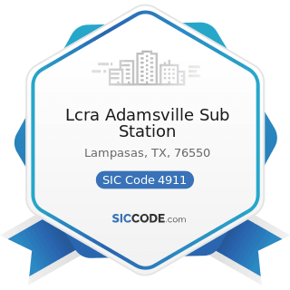 Lcra Adamsville Sub Station - SIC Code 4911 - Electric Services
