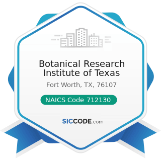 Botanical Research Institute of Texas - NAICS Code 712130 - Zoos and Botanical Gardens