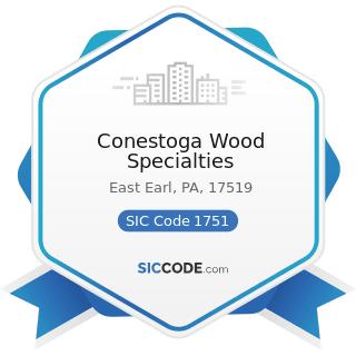 Conestoga Wood Specialties - SIC Code 1751 - Carpentry Work