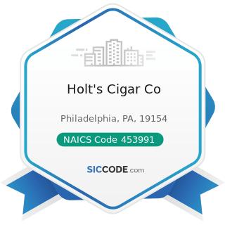 Holt's Cigar Co - NAICS Code 453991 - Tobacco Stores