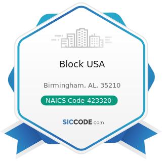 Block USA - NAICS Code 423320 - Brick, Stone, and Related Construction Material Merchant...
