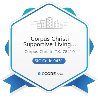 Corpus Christi Supportive Living Center - SIC Code 9431 - Administration of Public Health...