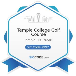 Temple College Golf Course - SIC Code 7992 - Public Golf Courses