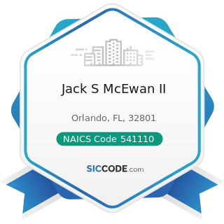 Jack S McEwan II - NAICS Code 541110 - Offices of Lawyers