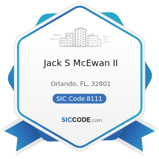 Jack S McEwan II - SIC Code 8111 - Legal Services
