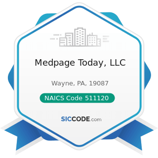 Medpage Today, LLC - NAICS Code 511120 - Periodical Publishers