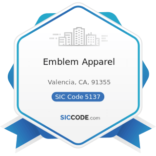 Emblem Apparel - SIC Code 5137 - Women's, Children's, and Infants' Clothing and Accessories