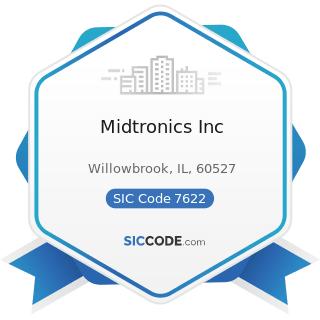 Midtronics Inc - SIC Code 7622 - Radio and Television Repair Shops
