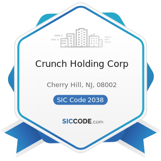 Crunch Holding Corp - SIC Code 2038 - Frozen Specialties, Not Elsewhere Classified