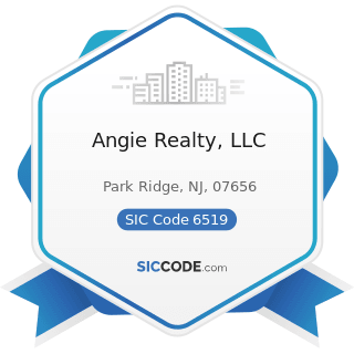 Angie Realty, LLC - SIC Code 6519 - Lessors of Real Property, Not Elsewhere Classified