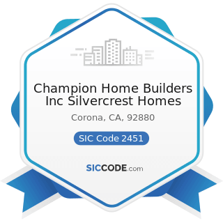 Champion Home Builders Inc Silvercrest Homes - SIC Code 2451 - Mobile Homes