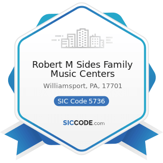Robert M Sides Family Music Centers - SIC Code 5736 - Musical Instrument Stores