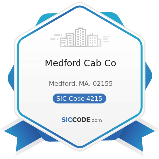 Medford Cab Co - SIC Code 4215 - Courier Services, except by Air