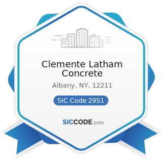 Clemente Latham Concrete - SIC Code 2951 - Asphalt Paving Mixtures and Blocks