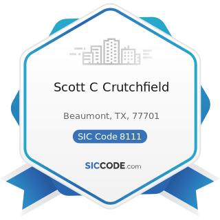 Scott C Crutchfield - SIC Code 8111 - Legal Services
