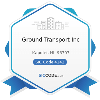 Ground Transport Inc - SIC Code 4142 - Bus Charter Service, except Local