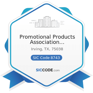 Promotional Products Association International - SIC Code 8743 - Public Relations Services