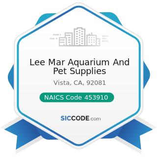 Lee Mar Aquarium And Pet Supplies - NAICS Code 453910 - Pet and Pet Supplies Stores