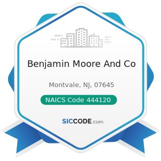 Benjamin Moore And Co - NAICS Code 444120 - Paint and Wallpaper Stores