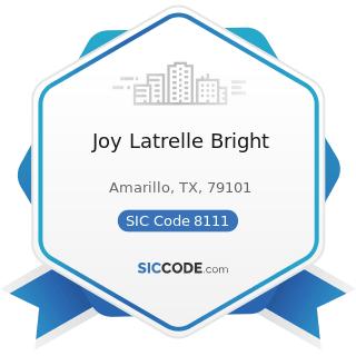 Joy Latrelle Bright - SIC Code 8111 - Legal Services