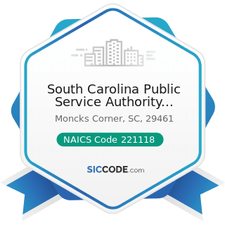 South Carolina Public Service Authority Santee Cooper Corp - NAICS Code 221118 - Other Electric...