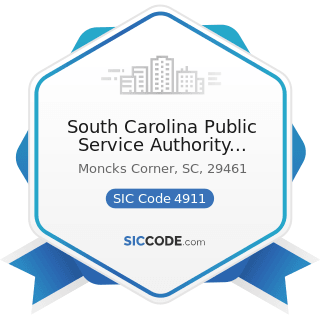 South Carolina Public Service Authority Santee Cooper Corp - SIC Code 4911 - Electric Services