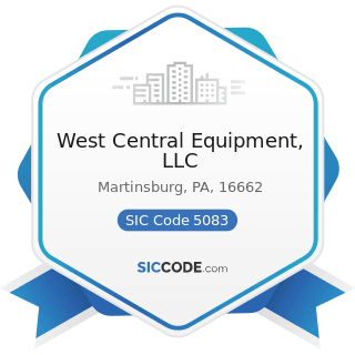 West Central Equipment, LLC - SIC Code 5083 - Farm and Garden Machinery and Equipment