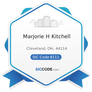 Marjorie H Kitchell - SIC Code 8111 - Legal Services