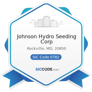 Johnson Hydro Seeding Corp - SIC Code 0782 - Lawn and Garden Services