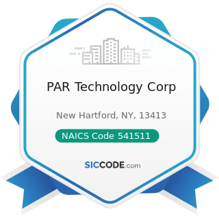 PAR Technology Corp - NAICS Code 541511 - Custom Computer Programming Services