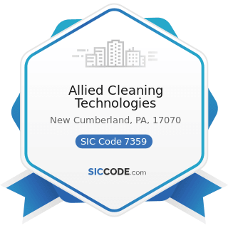 Allied Cleaning Technologies - SIC Code 7359 - Equipment Rental and Leasing, Not Elsewhere...