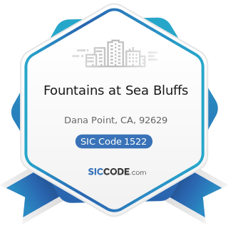Fountains at Sea Bluffs - SIC Code 1522 - General Contractors-Residential Buildings, other than...