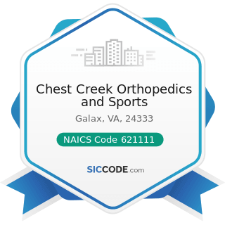 Chest Creek Orthopedics and Sports - NAICS Code 621111 - Offices of Physicians (except Mental...