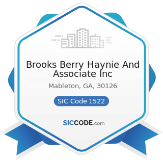 Brooks Berry Haynie And Associate Inc - SIC Code 1522 - General Contractors-Residential...