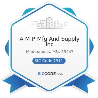 A M P Mfg And Supply Inc - SIC Code 7311 - Advertising Agencies
