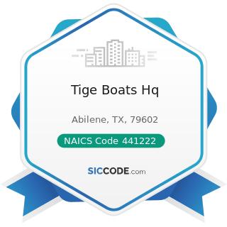 Tige Boats Hq - NAICS Code 441222 - Boat Dealers