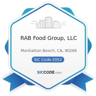 RAB Food Group, LLC - SIC Code 2052 - Cookies and Crackers