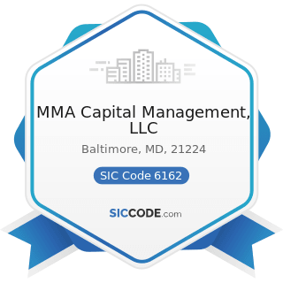 MMA Capital Management, LLC - SIC Code 6162 - Mortgage Bankers and Loan Correspondents