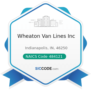 Wheaton Van Lines Inc - NAICS Code 484121 - General Freight Trucking, Long-Distance, Truckload