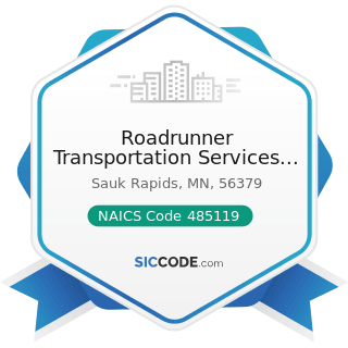 Roadrunner Transportation Services Holdings - NAICS Code 485119 - Other Urban Transit Systems