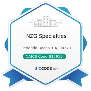 NZG Specialties - NAICS Code 813910 - Business Associations